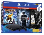 Žaidimų konsolė Sony PlayStation 4 Slim 1TB + Ratchet & Clank + Uncharted 4 + The Last of Us Remastered